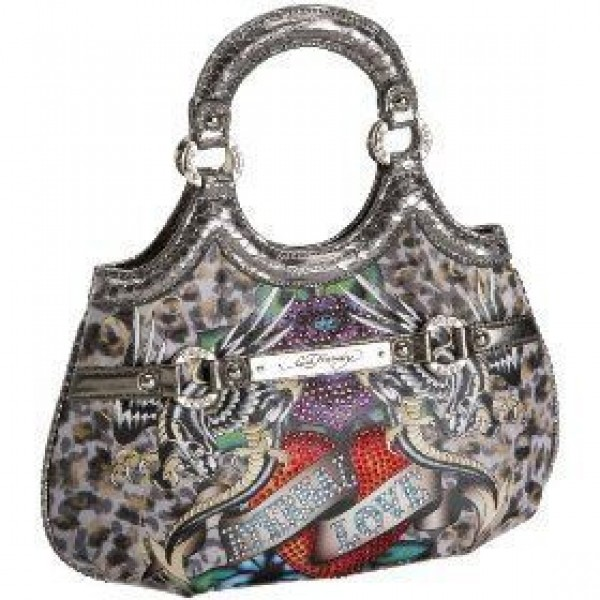 Ed Hardy Womens Bags Eternal Love Leopard Fashion