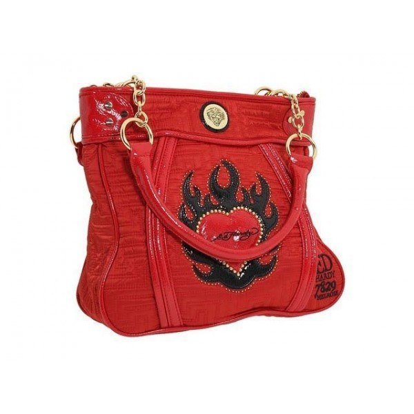 Ed Hardy Womens Bags Flame Heart Red Store