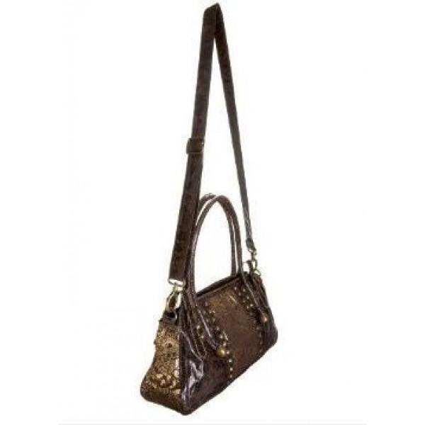 Ed Hardy Womens Bags Gold Love Kill Slowly Chocolate 03