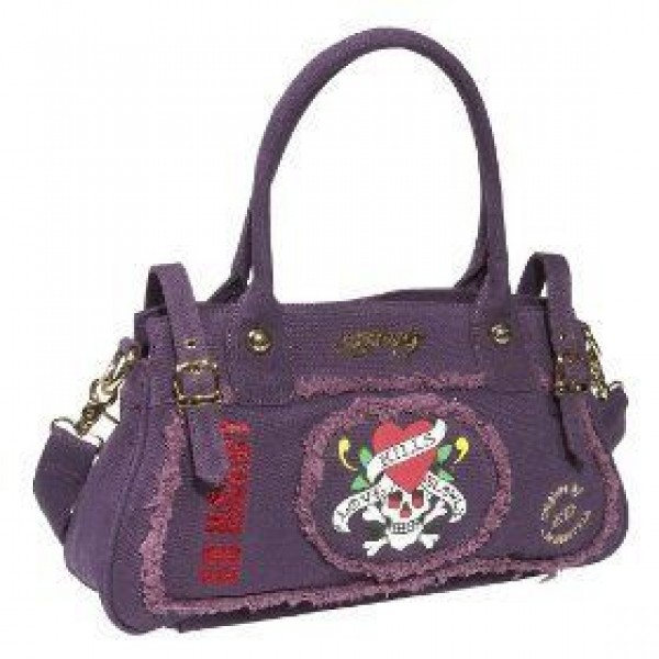 Ed Hardy Womens Bags Love Kill Slowly Purple