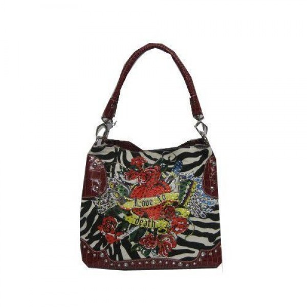 Ed Hardy Womens Bags Love To Die Zebra Store UK