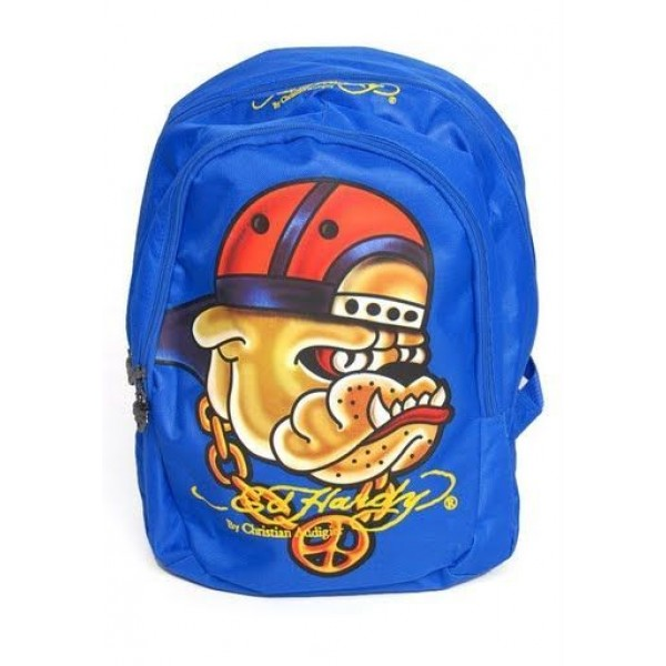 Ed Hardy Womens Bags Punk Dog Blue Outlet UK