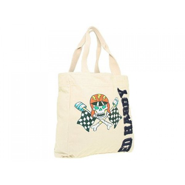 Ed Hardy Womens Bags Skull Racing Driver White Cheap