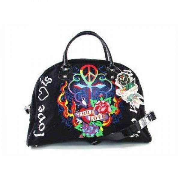 Ed Hardy Womens Bags True Love Black Original