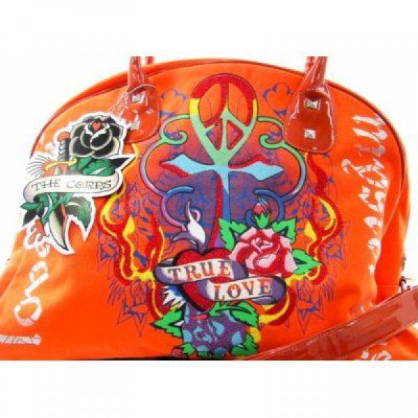 Ed Hardy Womens Bags True Love Orange Products