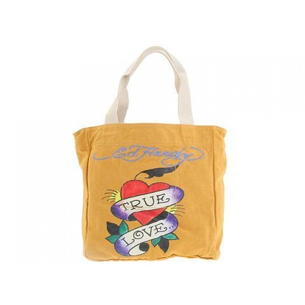 Ed Hardy Womens Bags True Love Yellow For Sale