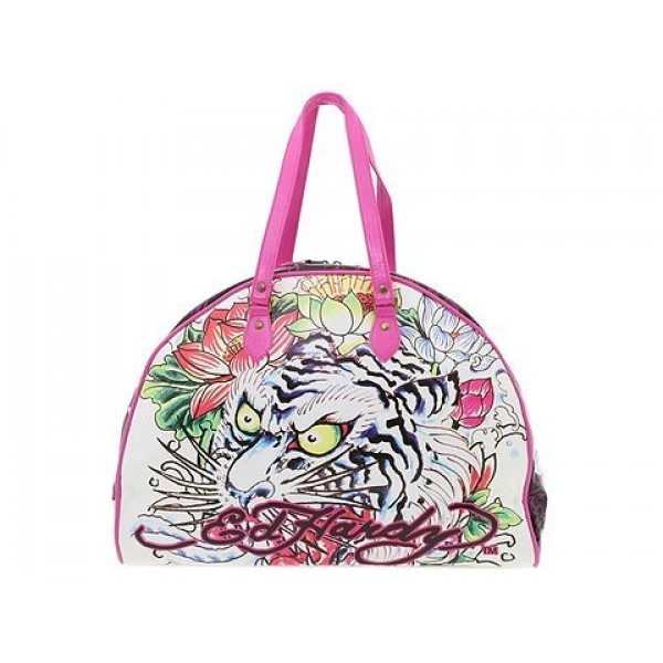 Ed Hardy Womens Long Bags Lotus Tiger Pink Shop UK