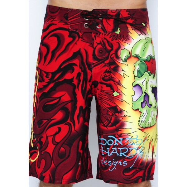 Boom Tiger Mens Ed Hardy Beach Shorts Clothing UK