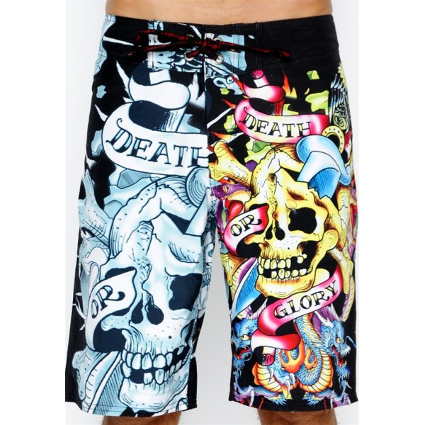 Ed Hardy Boys Beach Shorts Death Or Glory Store UK