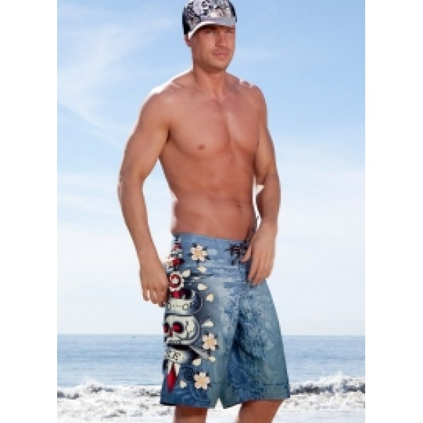 Ed Hardy Boys Beach Shorts Denim Love Or Die Canada