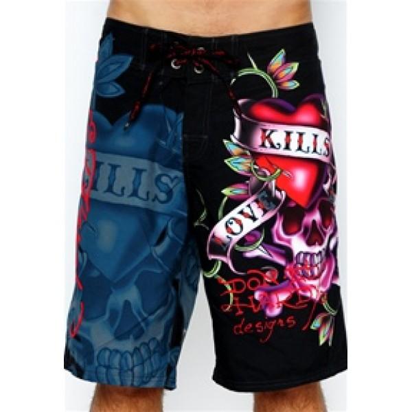 Mens Ed Hardy Products Beach Shorts Love Kill Slowly