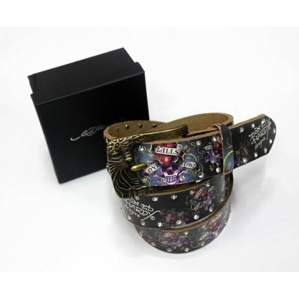 Ed Hardy Belts Diamond Classic Love Kill Slowly Black