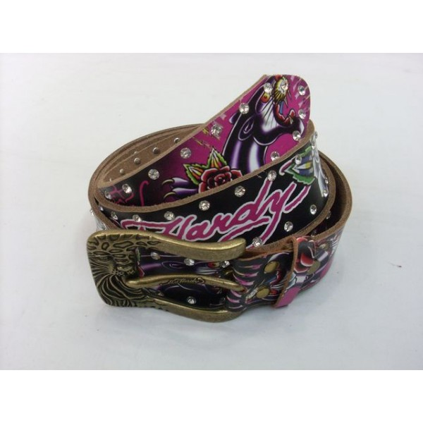 Ed Hardy Belts Diamond Classic Rose Leopard