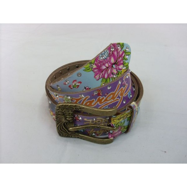 Ed Hardy Belts Diamond Cobra Purple