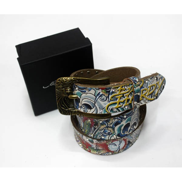 Ed Hardy Belts Diamond Danger Skull Love Kill Slowly