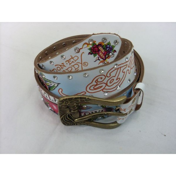Ed Hardy Belts Diamond ED Logo Love Kill Slowly