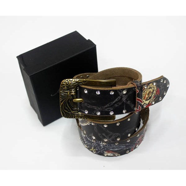 Ed Hardy Belts Diamond Eagle Black