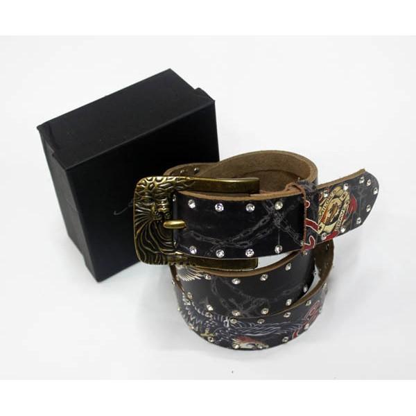 Ed Hardy Belts Diamond Eagle Black