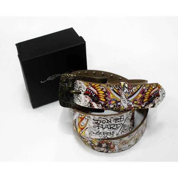 Ed Hardy Belts Diamond Indian Tiger