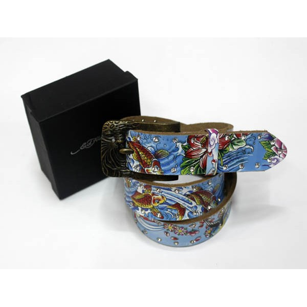 Ed Hardy Belts Diamond Lotus Cyprinoid Birds
