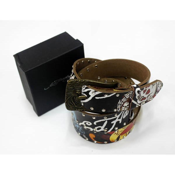 Ed Hardy Belts Diamond Love Kill Slowly Black