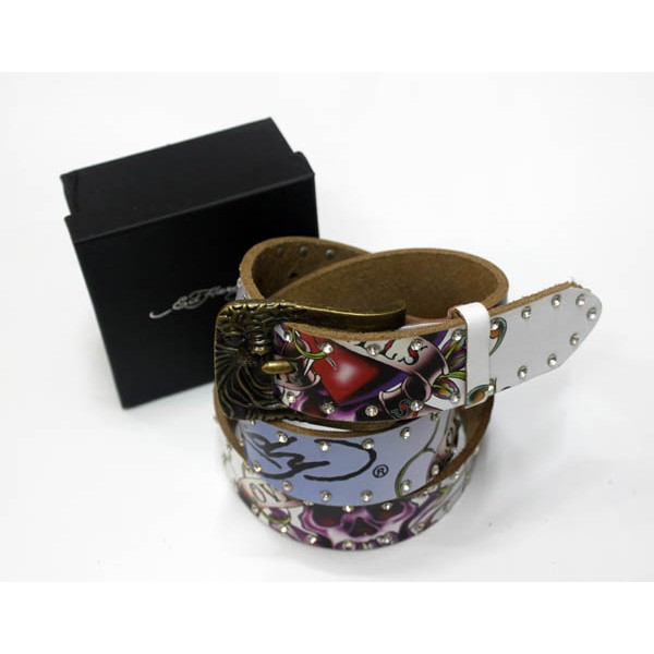 Ed Hardy Belts Diamond Love Kill Slowly Blue