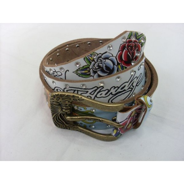 Ed Hardy Belts Diamond Mermaid White