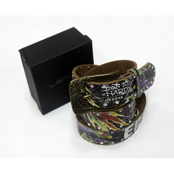 Ed Hardy Belts Diamond Parrot Black