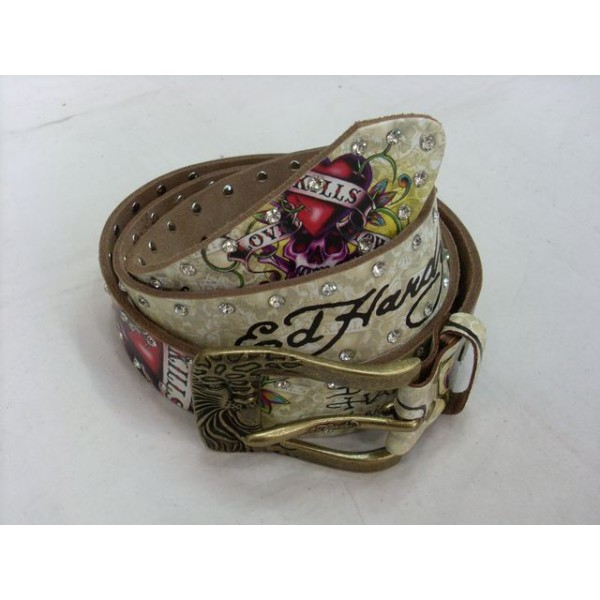 Ed Hardy Belts Diamond Purple Love Kill Slowly
