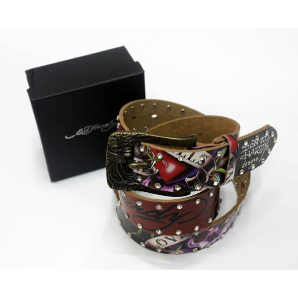 Ed Hardy Belts Diamond Wine Love Kill Slowly