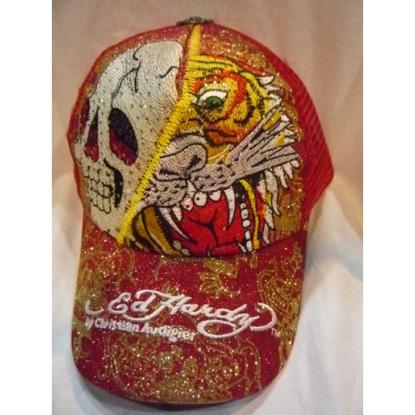 Buy Ed Hardy Original Caps Red Skull Tiger Sale