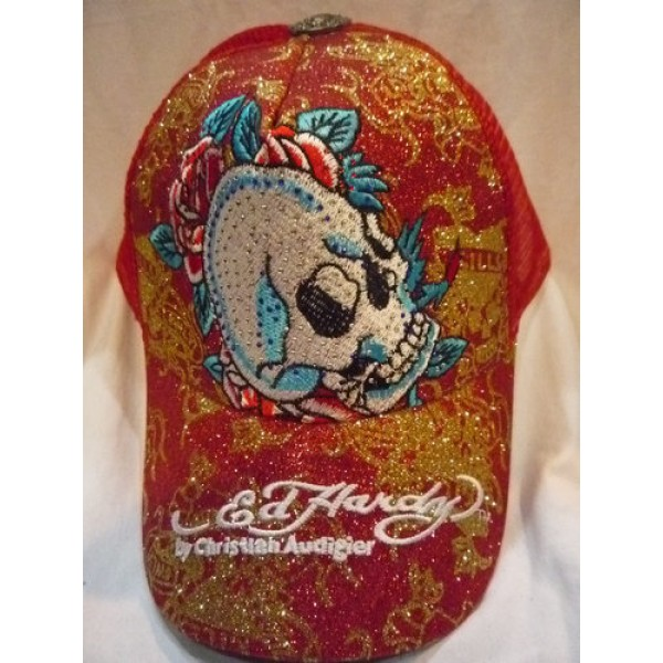 Ed Hardy Caps Skull Red Pictures