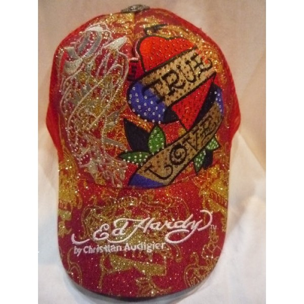 Ed Hardy Clothes Online Caps True Love Red
