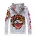 Buy Ed Hardy Hoodies Store Online Grey Tiger