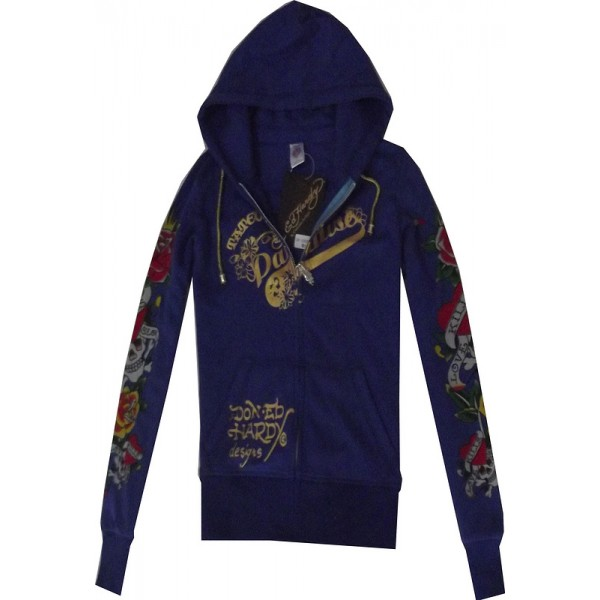 Buy Girls Hoodies Clearance Ed Hardy Blue