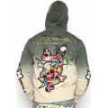 Cheap Ed Hardy Hoodies Grey Sand For Men
