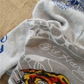 ED Hardy Hoodies Mens Skull Tiger In Grey For Sale