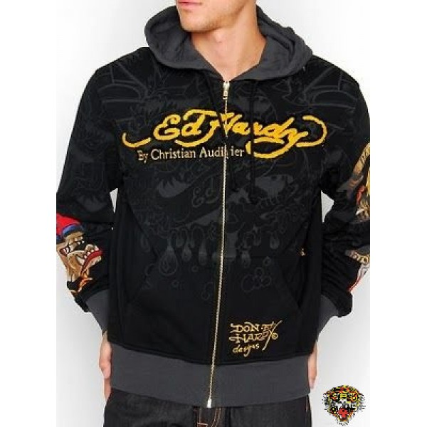 Ed Hardy Black Hoodies For Men Shop Online