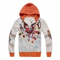 Ed Hardy Clothing Australia Hoody Orange Skull
