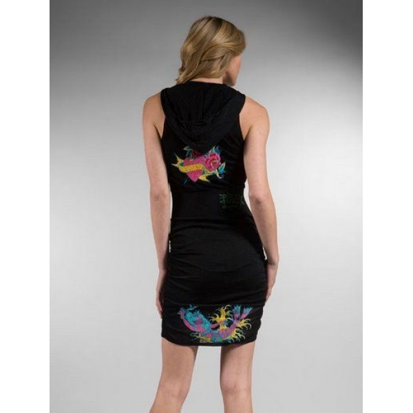 Ed Hardy Dress Hoodies Cyprinoid Black For Women
