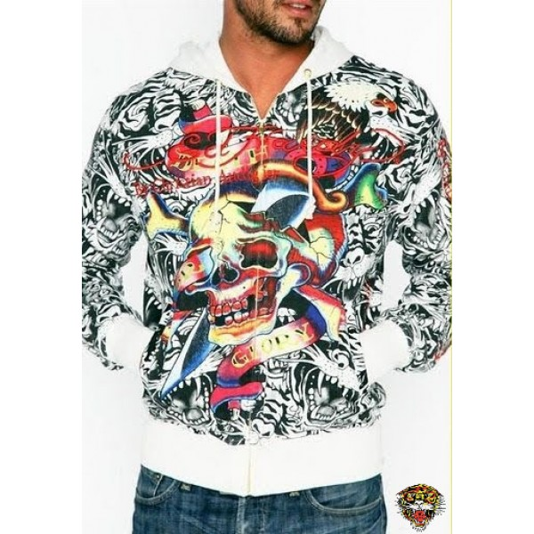 Ed Hardy Fashion Hoodie Death Before Dishonor Mens