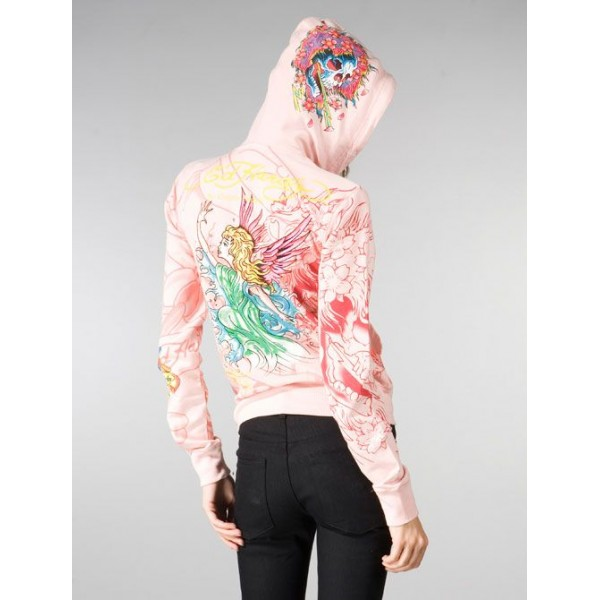 Ed Hardy Hoodies Angel 1958 Pink For Women