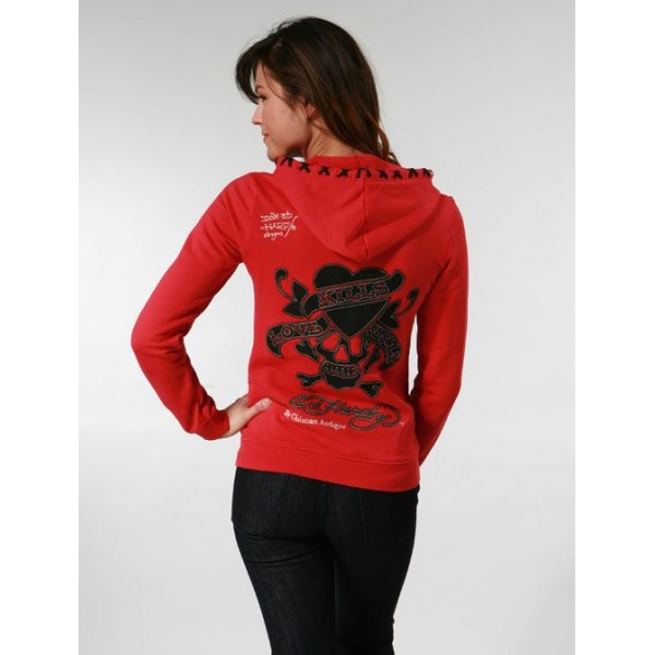 Ed Hardy Hoodies Black Love Kill Slowly For Women