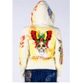 Ed Hardy Hoodies Butterfly Skull Sand For Women