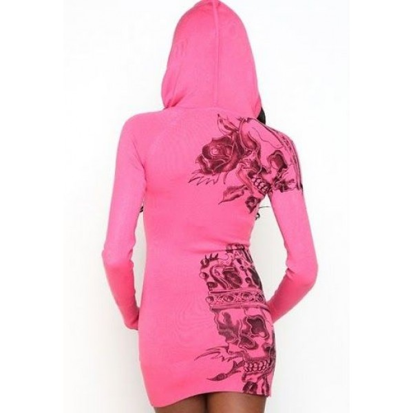 Ed Hardy Hoodies Classic Tiger Pink For Women