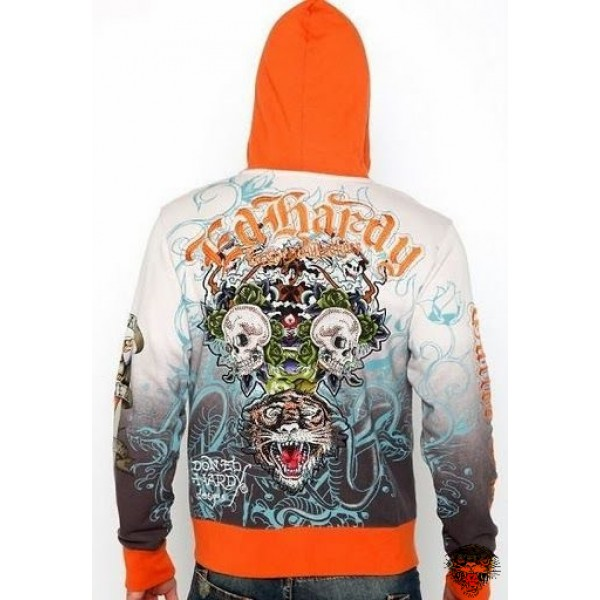 Ed Hardy Hoodies Clearance Tiger Skull For Cheap