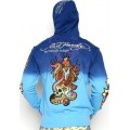 Ed Hardy Hoodies Clothes Online Blue Cobra Skull Eagle