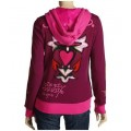 Ed Hardy Hoodies Cross Heart Wine For Women