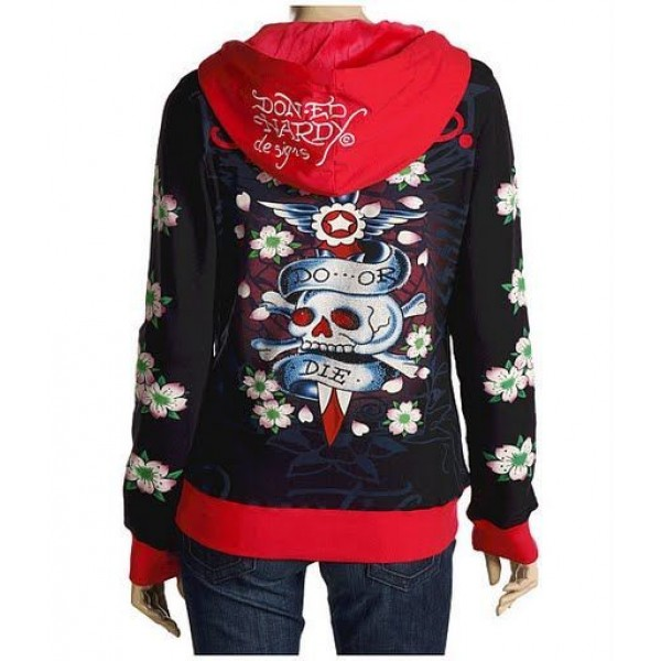 Ed Hardy Hoodies Do Or Die Black For Women