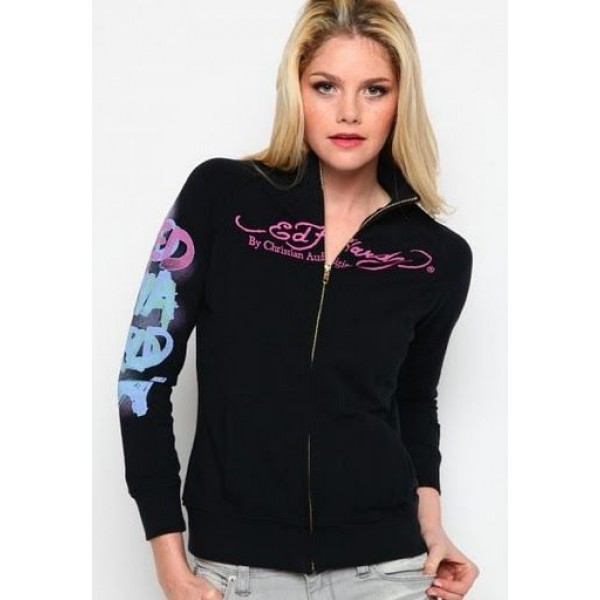 Ed Hardy Hoodies Eagle Cobra Black For Women